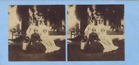 Famille bourgeoise Second Empire Mode Photo Stereo Vintage albumine ca 1860