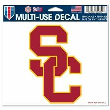"USC SOUTHERN CAL TROJANS ULTRA DECAL TEAM LOGO 5""X6"" CLEAR WINDOW FILM"