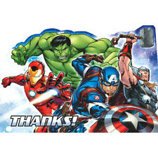 AVENGERS Epic THANK YOU NOTES (8) ~ Birthday Party Supplies Stationery Cards