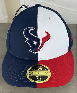 New Era NFL Houston Texans 59Fifty Fitted Hat - Size 7 1/2 - Texas State Flag