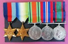 WWII Atlantic & Long Service Medal Group to Royal Naval Volunteer Reserve