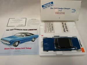 "DANBURY MINT 1:24 DIE CAST 1968 DODGE CHARGER FROM ""CHRISTINE"""