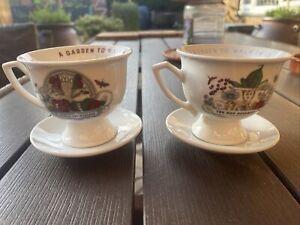 Hendricks Gin Tea Cups And Saucers