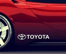 2x Side Skirt Stickers Fits Toyota Logo Premium Qaulity Decals RA105