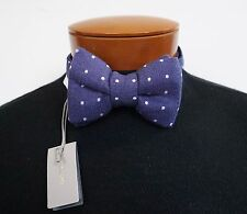 NWT Authentic TOM FORD Polka Dot COTTON LINEN SILK Bow Tie