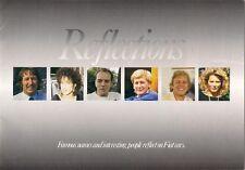 Fiat Reflections Celebrity Tests 1987 UK Market Brochure Panda Uno Regata Croma
