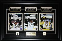 Sidney Crosby Pittsburgh Penguins 2009 2016 2017 Stanley Cup 3 Photograph Frame