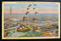 1942 Shreveport LA USA Army Air Base PO Picture Postcard Cover Plane In Flight