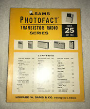 Sams Photofact Transistor Radio Series Volume 25 (1963)