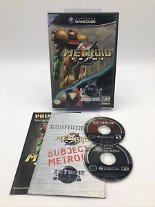 Metroid Prime /w Bonus Metroid Prime 2 Demo (Nintendo GameCube, 2004) *Complete*
