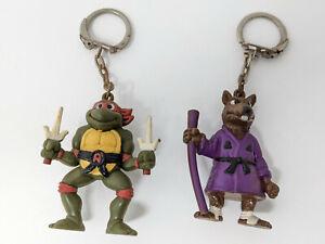 TMNT Japanese Keychain Figure LOT Mirage 1994 Splinter Raphael Turtles Japan