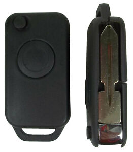 Case for Mercedes Benz Housing Shell Remote Flip Key Fob 1 Button Uncut Blade