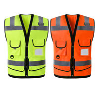 Summer High Visibility Reflective Safety Work Vest Breathable Waistcoat