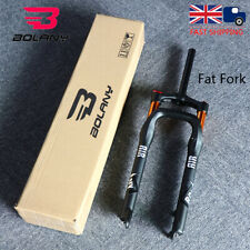 """UK BOLANY 26*4.0"""" Fat Snow Suspension Fork MTB Beach Bike Air Shock Forks 1-1/8"""""""
