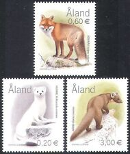 Aland 2004 Fox/Ermine/Marten/Animals/Nature/Wildlife/Conservation 3v set n41579