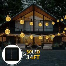 50 LED 32Ft Waterproof Crystal Ball Decorative Lights Indoor Outdoor Fairy Light