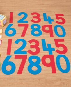 Silicone Number Indoor Outdoor Activity Kit Counting Numeracy Educational Kids