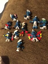 Vintage collection of 11 Smurf Figures toys collectible