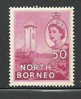 Album Treasures North Borneo Scott # 271  50c Elizabeth Clock Tower Mint NH