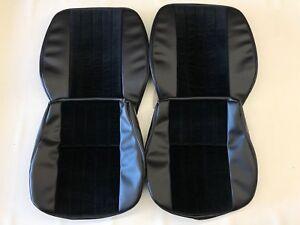 PORSCHE 356 A/B/C CORDUROY VINYL FRONT SEAT COVER SET IN BLACK