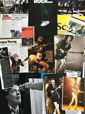 AC/DC magazine cuttings collection