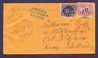 America über Bremen - Umschlag aus USA über Bremen nach Welzheim 1862 (287)
