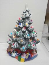 17 INCH CERAMIC LIGHTED CHRISTMAS TREE FIRST I HAVE SEEN LIKE THIS  Ho Ho Ho !