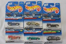 Hot Wheels Cars Assorted Jaguar Cars Toys Set of 6 Collectible 08-17
