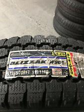 1 New LT 245 70 17 LRE 10 Ply Bridgestone Blizzak W965 Commercial Snow Tire