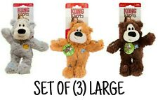 Kong WILD KNOTS - SET OF (3) LARGE Bears - Rope Body w/Minimal Stuffing Dog Toys