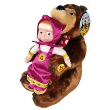 Mascha und der Bär SET 22cm + 28cm Puppe +Bär spricht singt lacht Masha i Medved