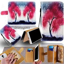 Leather Stand Flip Wallet Cover Phone Case For Various BlackBerry SmartPhones