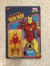 Marvel Legends IRON MAN Retro Action Figure Vintage Kenner 1st Edition MOC - NEW