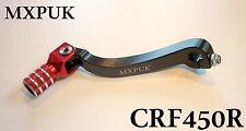 CRF450 2013 GEAR LEVER RED MXPUK BILLET ALUMINIUM HONDA 2009-16 CRF 450 (621)