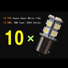 10pcs Ba15s 1156 13-SMD 5050 12V Backup Signal Blinker Tail Light LED Bulb White