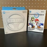 Mario Kart Wii (Nintendo Wii, 2008)Game CIB W/ Manual - Tested +Wii Wheel In Box