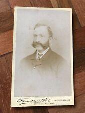 Antique Victorian CDV Brown Barnes Bell photographers man cabinet photo 1881-82