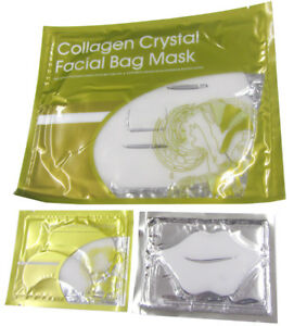 5 x Lip Mask Collagen White Crystal Facial Face Bag Under Eye Bags Anti-Ageing