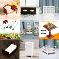 1:12 Miniature Mobilier Cuisine Chambre Maison Poupée Meuble Cadeaux Pour  +A