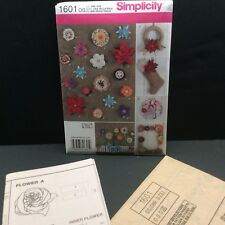 Simplicity Sewing Pattern 1601 Andrea Schewe Fabric Flowers Factory Folded