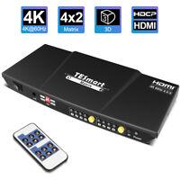TESmart HDMI Matrix  4K@60hz 4 In 2 Out HDCP 2.2