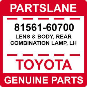 81561-60700 Toyota OEM Genuine LENS & BODY, REAR COMBINATION LAMP, LH