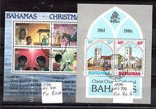 Bahamas 1986 2 x mini feuilles (VFU) MS776-781 WS6005