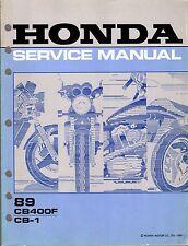 1989 HONDA MOTORCYCLE CB400F, CB-1 SERVICE MANUAL  (405)