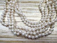 6-9mm White Cultured Freshwater Pearl Sterling Silver MULTI-STRAND JTV $179