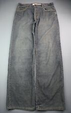 Men's Mossimo Corduroy Pants Relaxed Straight Blue Size 32x34 (Measure 33x33)