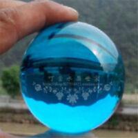 40mm Asian Rare Natural Quartz Blue Magic Crystal Healing Ball Sphere + Stand