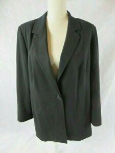 Marina Rinaldi 100% Wool Black Blazer Jacket Plus Size 21