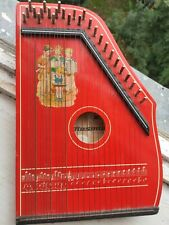 Zither MUSIMA, vintage folk musical instrument, 24 strings MUSIMA 3 chords.