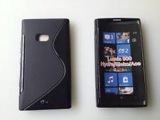 Negro Nokia Lumia 900 protección fundas silicona Funda Cover